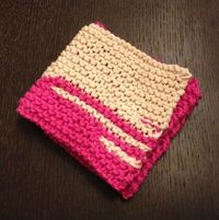 Pink washcloth